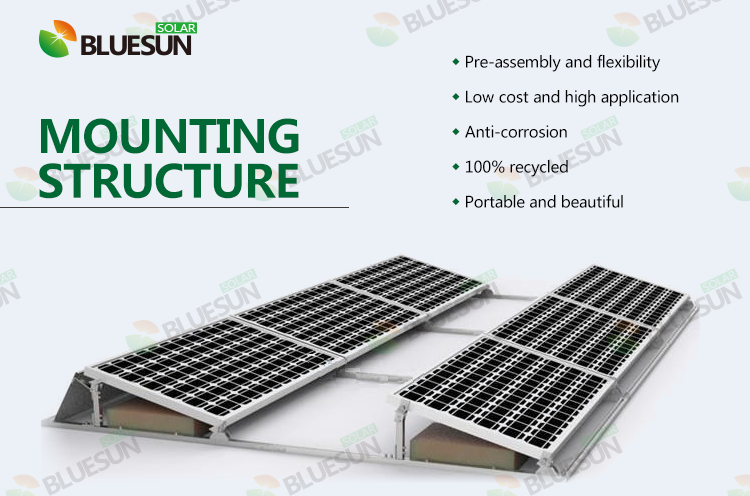 Buy Flat Roof Ballasted Solar Racking System Professional