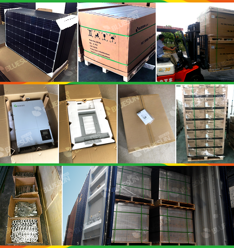 5.10KW grid tied solar system 10KW on grid solar system 110V/240V solar power on grid inverter monitoring 10KW on grid system10000W solar power plant