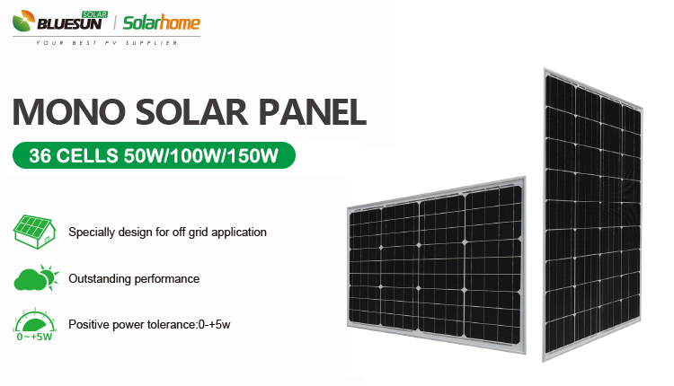 Buy Bluesun 100 Watts 12 Volts Monocrystalline Solar Panel 50w 100w 150w Solar Panel Professional Bluesun 100 Watts 12 Volts Monocrystalline Solar Panel 50w 100w 150w Solar Panel Manufacturers