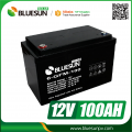 Bluesun portable Solar System using Solar Battery deep cycle lead acid 12v 100ah Solar Battery