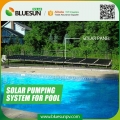 Small solar water pump for swimming pools