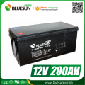 Solar energy use 12v 200ah rechargeable batteries and charger