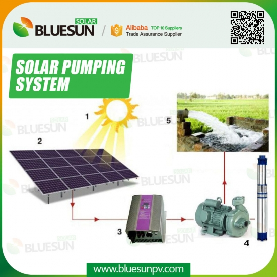 Buy 3phase AC solar panels with solar powered water pump for ...