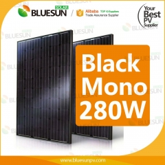full black mono 260w 265watt 270wp 280w solar panel 290 w 295w solar module