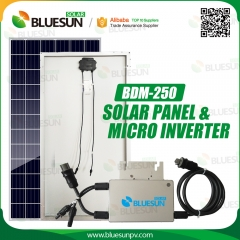 Solar Panel & 250W Micro Inverter Solar Kit Micro Grid-tied Solar Energy System-Bluesun