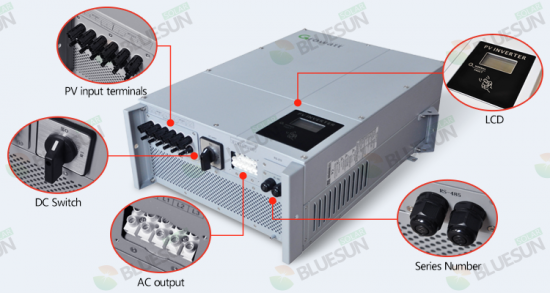 Buy 5KW solar inverter 3 phase on grid dc to ac grid tie