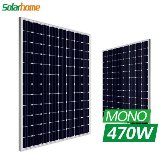 Buy High Efficiency 5BB 470watt Single Solar Panel for Solar Power