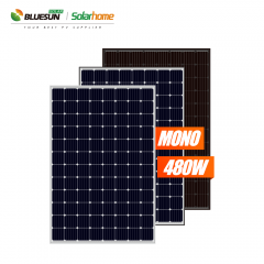 Bluesun A Grade 96cell 48v 480w 490w 500w PV Solar Panels Price for 500 watt System