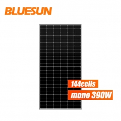 Bluesun glass perc half solar cell solar panel 390w solar panel for home use