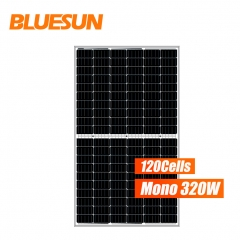 Bluesun mono 120 cells 320w 320 watts perc solar panel half cell solar panel