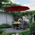 Bluesun New Products Dark Red Colour Solar Panel Umbrella for Courtyards use