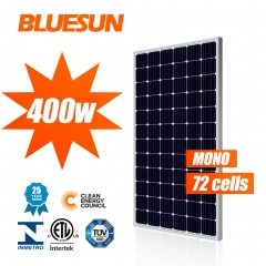 BLUESUN solar panels solar 390 watt 400w 400 watt 400wp 36v monocrystalline solar panel for shingles roof
