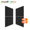 Bluesun Half Cut Cell PV Modules Perc Solar Panel Mono 370W 370Wp 370Watt Solar Panels