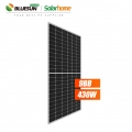 Bluesun 9bb 166mm 430watt solar pv panel half cut cells pv modules 430 watt 430wp solar panels