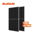 9BB Bluesun Half Cell Perc 345Wp 345 Watt Solar Panel Monocrystalline 345W Half Cell Solar Modules