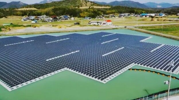 The land is not enough Japan to build the world's largest floating solar power plant