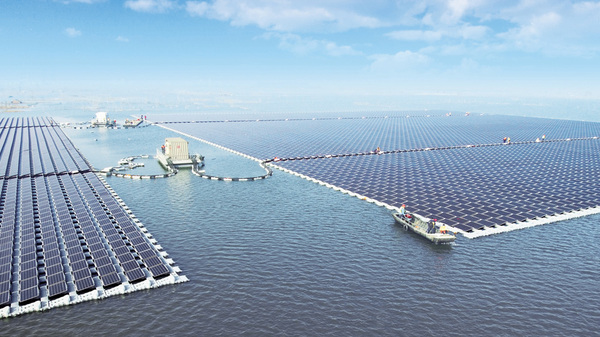 China has built the world's largest floating solar power station, located in Anhui