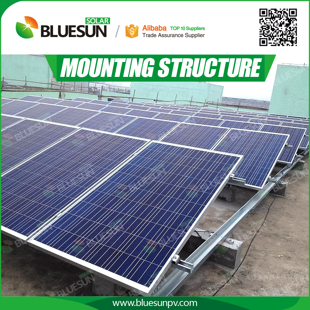 Solar Panel Mounting Structure System for Flat Roof