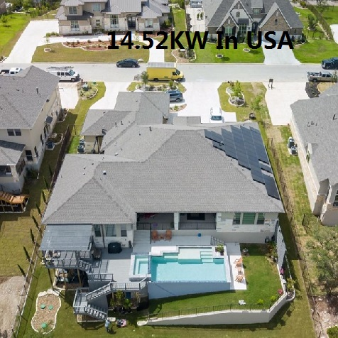 Bluesun 14.52KW Residential Solar System In USA