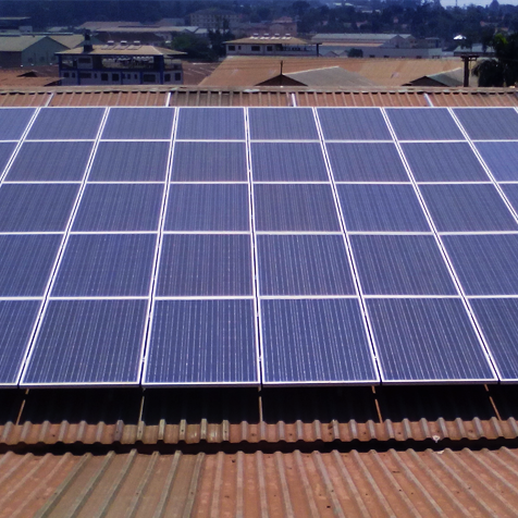 FIRST GRID-TIED ROOFTOP PV INSTALLATION AT OSCAR INDUSTRIES NAKAWA KAMPALA, UGANDA
