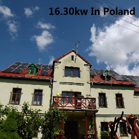 Bluesun 16.30KW Residential Solar System In Poland