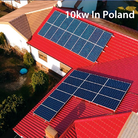 10kw on grid solar system installation in Poland,Europe