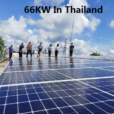Bluesun 66KW Rooftop Solar System In Thailand