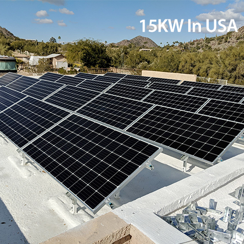 15KW on grid solar system in USA